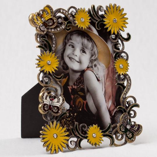 """Фоторамка """"Бабочки в цветах"""" (12*15 см, ф - 9*13 см) (034MA)"""