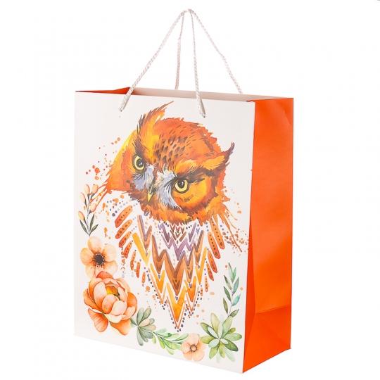 """Пакет подарочный, серия """"Совушки"""" (26*12*32) (219JH)"""