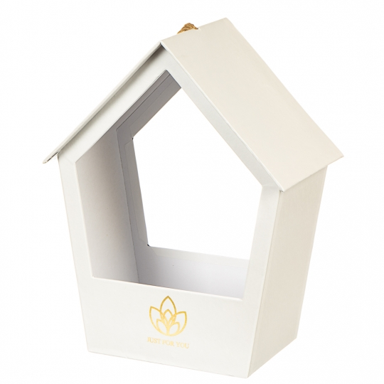 "Коробка для цветов ""Уютный домик"" (white) (0642JA)"