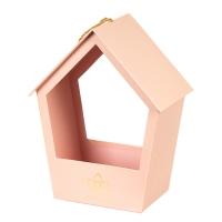 """Коробка для цветов """"Уютный домик"""" (pink)"""