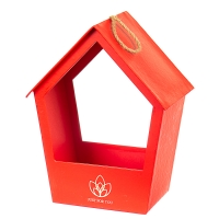 """Коробка для цветов """"Уютный домик"""" (red)"""