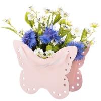 """Коробка для цветов """"Бабочка"""" розовая"""