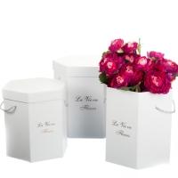 "Коробка для цветов набор 3 шт. ""La vie en fleurs"" белые"