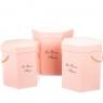 "Коробка для цветов набор 3 шт. ""La vie en fleurs"" розовые (0600J)"