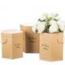 "Коробка для цветов набор 3 шт. ""La vie en fleurs"" бежевые (0601J)"