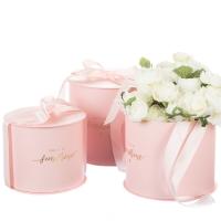 """Коробка для цветов набор 3 шт. """" You are my sunshine"""" розовые"""
