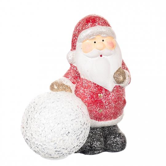 """Фигурка светящаяся """"Дед Мороз и снежный ком"""" (красный) (001ND)"""