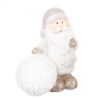 """Фигурка светящаяся """"Дед Мороз и снежный ком"""" (серый цвет)"""