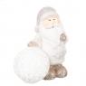 """Фигурка светящаяся """"Дед Мороз и снежный ком"""" (серый цвет) (002ND)"""