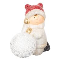 "Фигурка светящаяся ""Девочки лепят снеговика"""