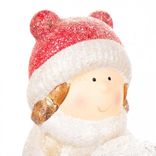 "Фигурка светящаяся ""Девочки лепят снеговика"" (017ND)"