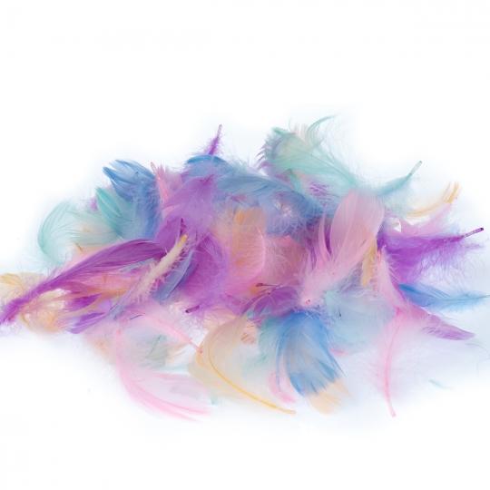 """Наполнитель """"Цветные перья"""" (микс, розовый, белый, мятный) (8032-001)"""