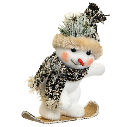 """Декор """"Снеговик сноубордист"""" (010NS)"""