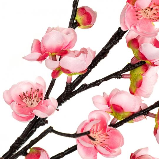 Ветка цветущей сливы 115 см, розовая (8414-013)