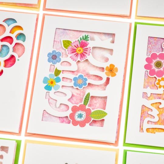 """Серия открыток """"Цветочная иллюстрация"""" (8128-005)"""
