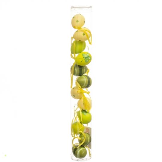 Крашенки декоративные салатовые 12 шт (4*3 см) (5001-006)