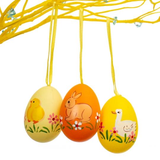 Крашенки декоративные жёлто-оранжевые (6шт) (5001-013)