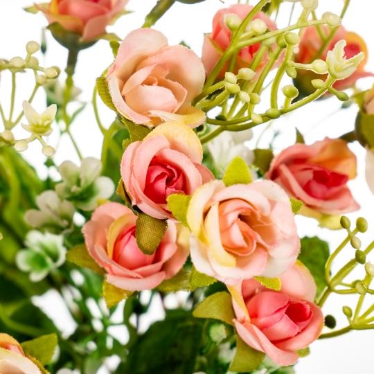 """Букет цветочный """"Мини розы"""" персиковые (8023-011/peach)"""