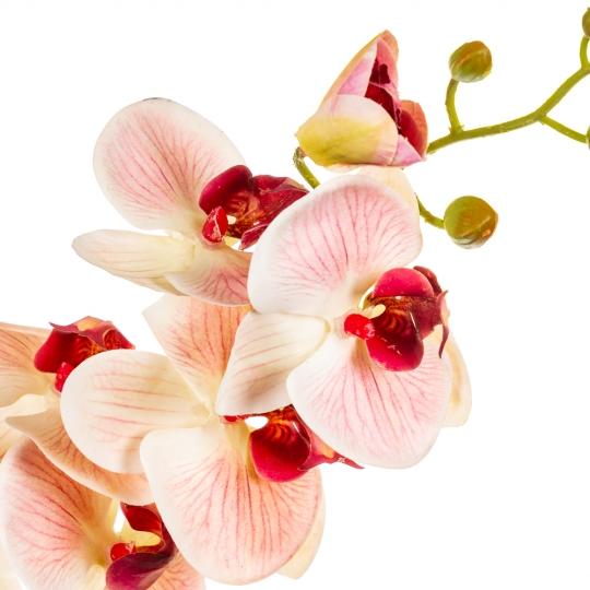 """Цветок """"Орхидея"""" пастельно-розовая 86 см (Силикон) (8100-017)"""