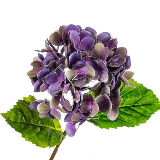 """Цветок искусственный """"Гортензия Papillon"""" синяя (8100-036)"""