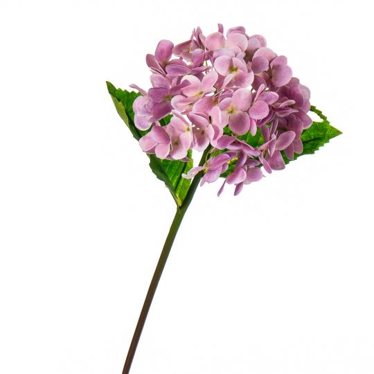 """Цветок искусственный """"Гортензия Papillon"""" розовая (8100-038)"""