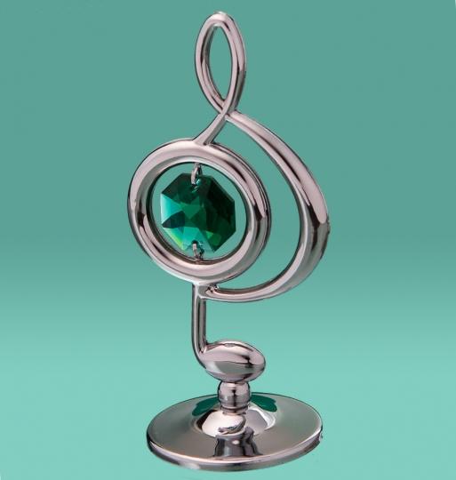 Скрипичный ключ (маленький, серебро) (0033-001 SL)