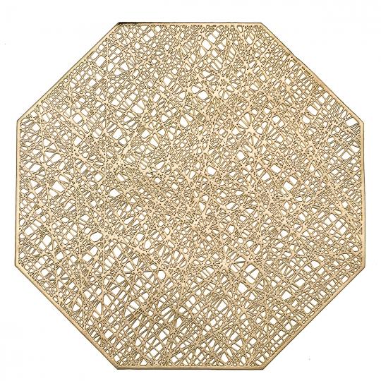 """Сервировочная салфетка """"Многогранник"""" золото (8511-004)"""