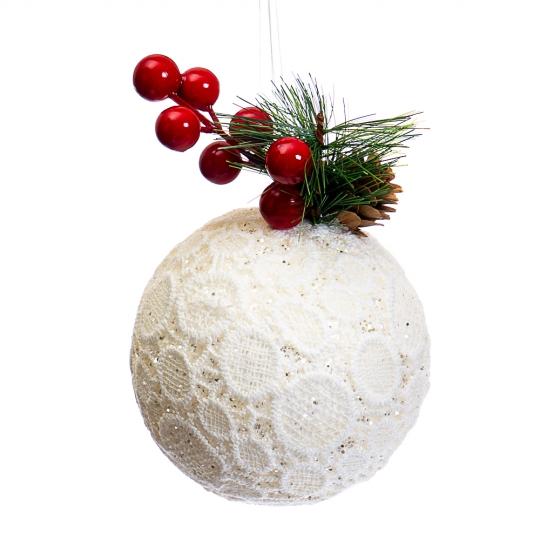 """Ёлочная игрушка """"Снежный шарик"""" (019NZK)"""