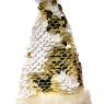 """Ёлочная игрушка """"Колпачок в золотых пайетках"""" (033NZK)"""