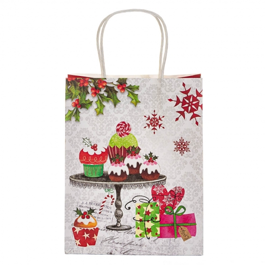 """Пакет """"Подарочки"""" 23*18*10 см (8208-017)"""