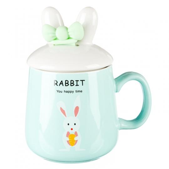 """Кружка, серия """"Забавный кролик""""  (400мл) *рандомный выбор дизайна (0492JH)"""