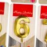 """Свечи для торта """"Блеск"""" от 0 до 9, золотые (8512-004)"""