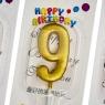 """Свечи для торта """"Сияние"""" от 0 до 9, золотые (8512-006)"""