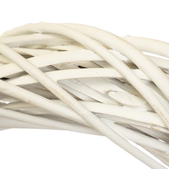 """Венок из лозы """"Универсальный"""" белый 39 см (5002-001)"""