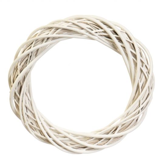 """Венок из лозы """"Универсальный"""" белый 36 см (5002-002)"""