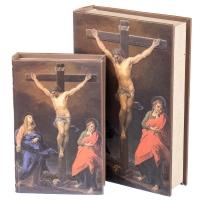 """Книга-шкатулка """"Распятие Иисуса"""" (33*22*7 см)"""