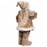 "Фигура ""Санта с подсвечником"" бежевый (6012-001)"