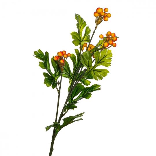 Ветвь калины с красно-желтым ягодами  искусственная (8408-010)