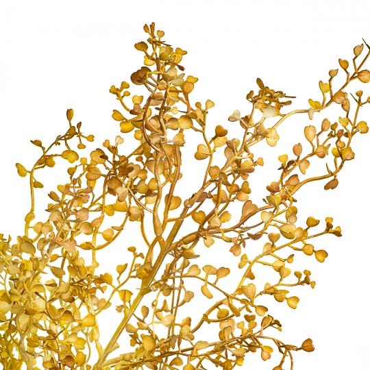 Куст пастушьей сумки желто-золотой искусственный (8408-034)