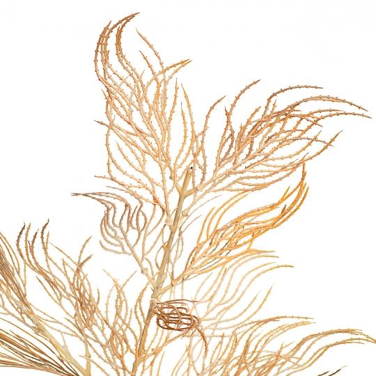 Ветка ивы волнистая серовато-желтая  искусственная (8408-039)