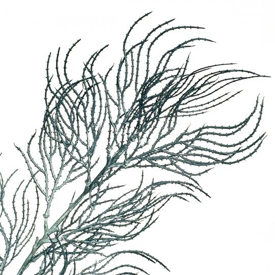 Ветка ивы волнистая серо-голубая искусственная (8408-040)