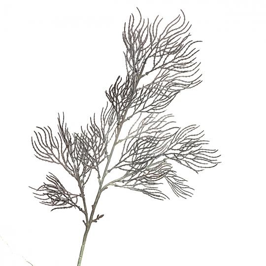 Ветка ивы волнистая темно-серая искусственная (8408-042)