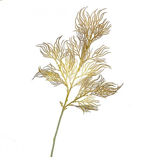 Ветка ивы волнистая желто-золотая искусственная (8408-043)