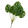 Ветвь монстеры зеленая искусственная (8408-049)