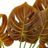 Ветвь монстеры желто-коричневая искусственная (8408-050)
