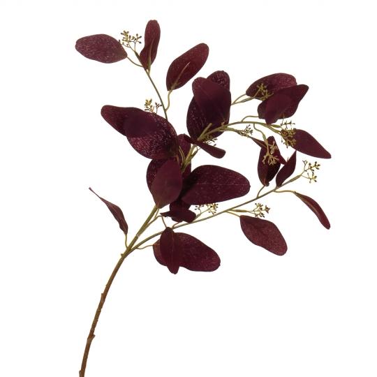 """Букет """"Сухоцвет с бордовыми листочками"""" (8114-023)"""
