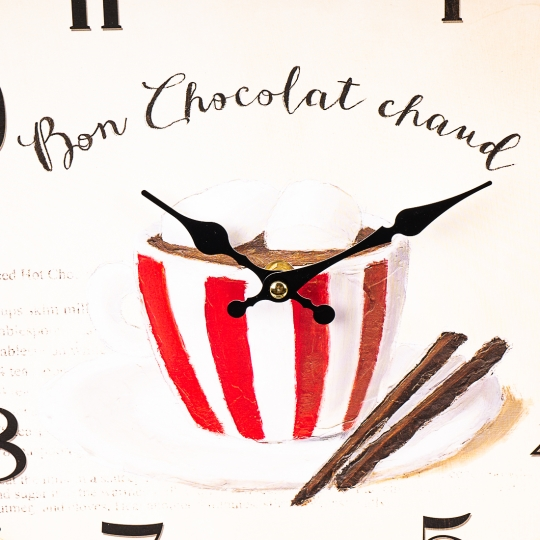 """Часы """"Горячий шоколад"""" (34см) (011AL)"""