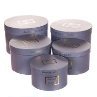 """Набор коробок """"Цилиндр"""", 32х21 см, серый цвет (5 шт)"""