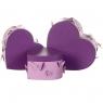 """Набор коробок """"Порхание бабочки 3D"""" 3 шт. фиолетовый (8300-015)"""
