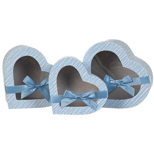"""Набор коробок """"Признание"""" 3 шт, голубой (8300-021)"""